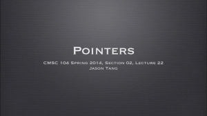 CMSC 104 Spring 2014, Section 02, Lecture 22 Jason Tang