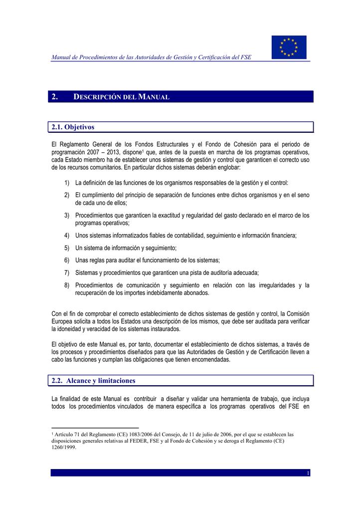 Reglamento fondos estructurales
