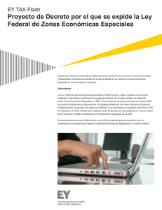 EY TAX Flash - Ley Federal de Zonas Económicas Especiales