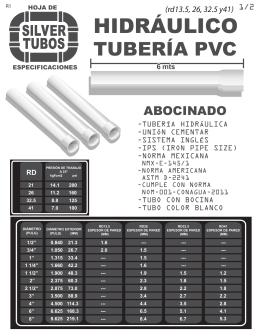 Tuber a cresco - Tuberia pvc presion ...