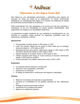 Diplomado en Six Sigma Green Belt