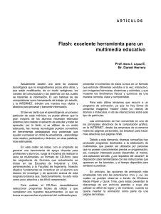 Flash: excelente herramienta para un multimedia educativo