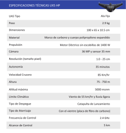 Tabla Especificaciones UX5 HP