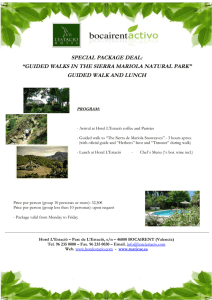 "SPECIAL PACKAGE DEAL: ""GUIDED WALKS IN THE SIERRA"