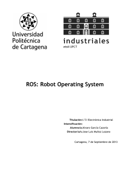 ROS: Robot Operating System