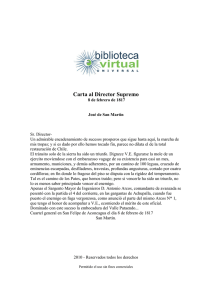 Carta al Director Supremo - Biblioteca Virtual Universal