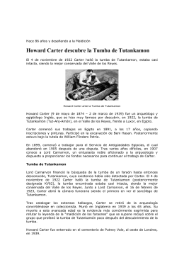 Howard Carter descubre la Tumba de Tutankamon