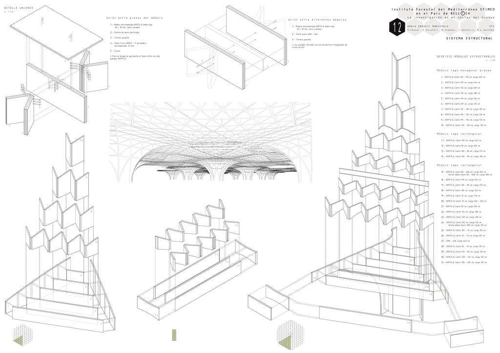 Despiece Módulos Estructurales Detalle Uniones