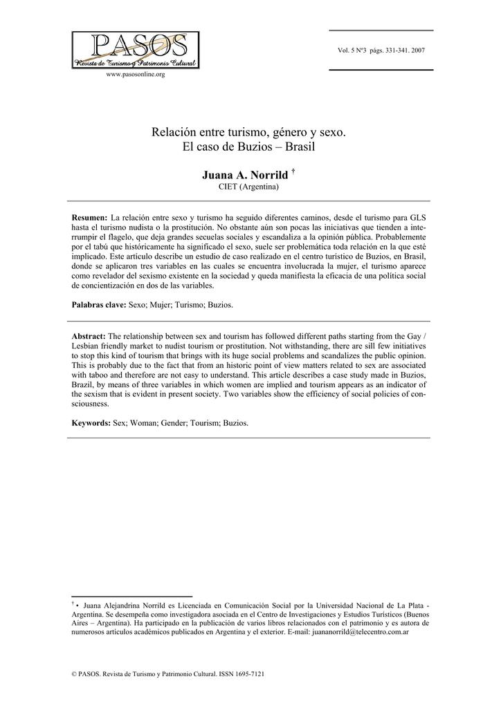 d3fee946f7b7 Relación entre turismo, género y sexo. El caso de Buzios
