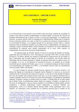 NOTA EDITORIAL / EDITOR´S NOTE