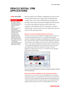 Oracle Social CRM Applications Data Sheet