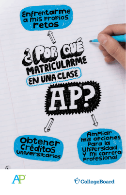 AP y tu futuro - The College Board