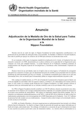Anuncio - World Health Organization