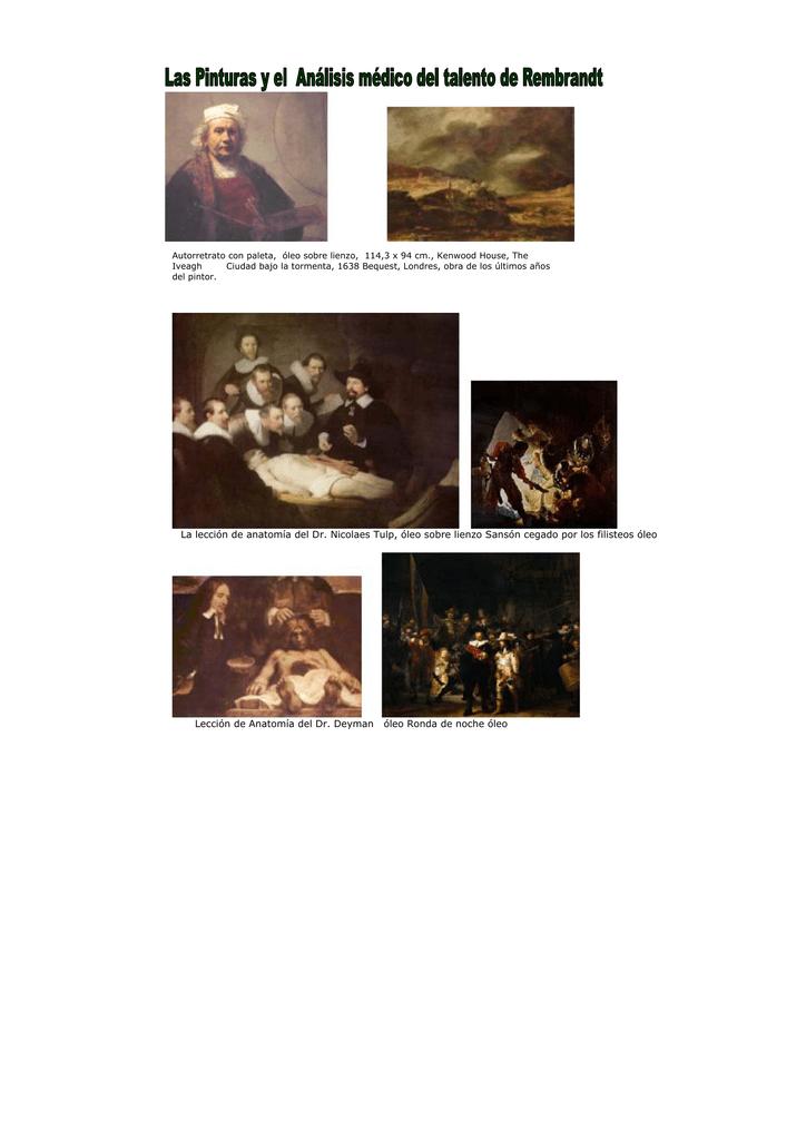 La lección de anatomía del Dr. Nicolaes Tulp, óleo sobre lienzo