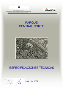 PAR CENTRAL ESPECIFICACIO QUE L NORTE ONES TÉCNICAS
