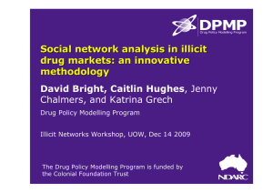 Social network analysis in illicit drug markets: an innovative