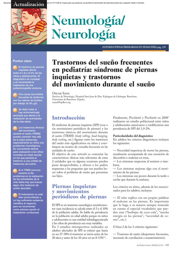 Inquietas pdf piernas