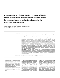 A comparison of distribution curves of body mass index from Brazil