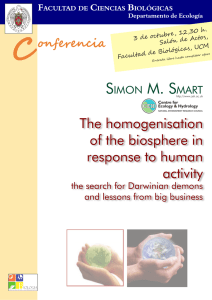 The homogenisation of the biosphere in response to human activity