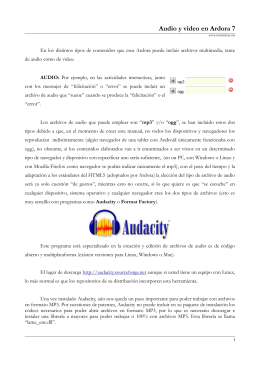 Archivos de audio y video