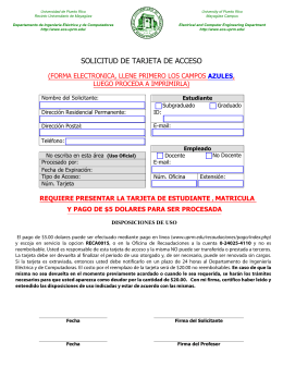 solicitud de tarjeta de acceso - Electrical and Computer Engineering