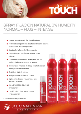 spray fijación natural 0% humidity normal – plus – intense