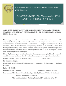 governmental accounting and auditing courses