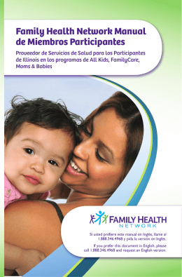 Family Health Network Manual de Miembros Participantes