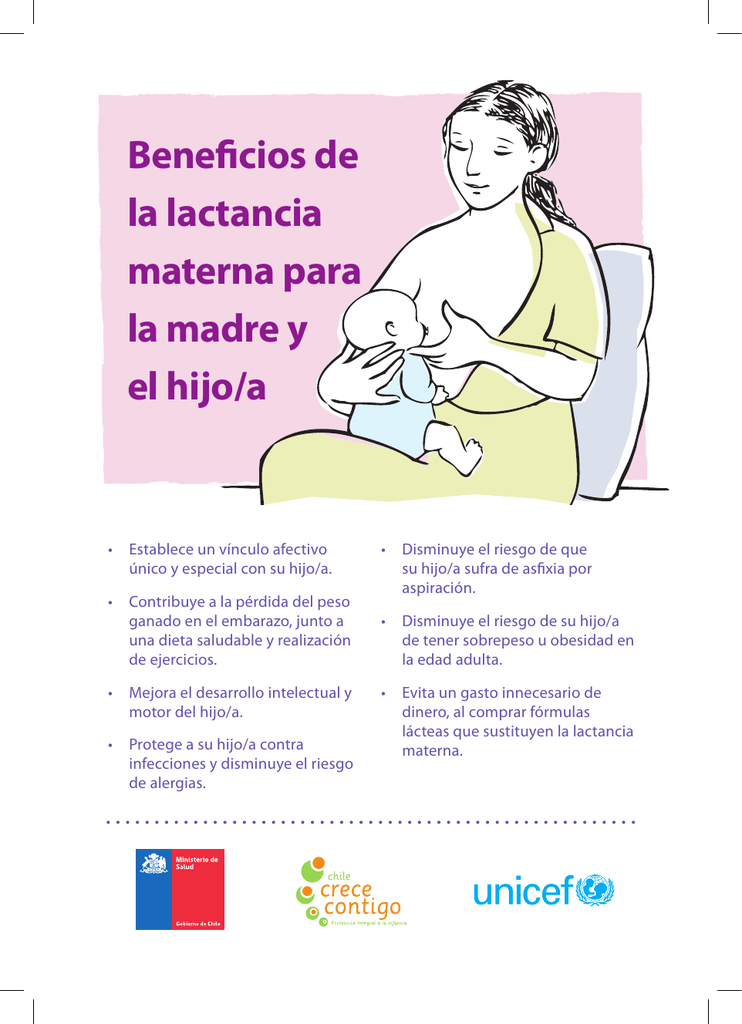 lactancia materna perdida peso madre