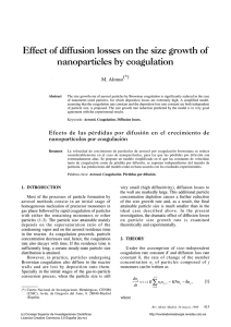 Effect of diffusion losses on the size growth of nanoparticles by