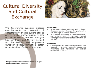Cultural Diversity and Cultural Exchange