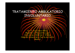 tratamiento ambulatorio involuntario