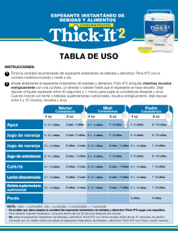 TABLA de uso - Thick-It