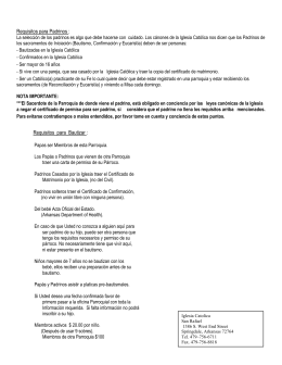 Requisitos e información del baptismo