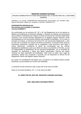 EXPEDIENTES INDIVIDUALES. Documentos que acrediten la