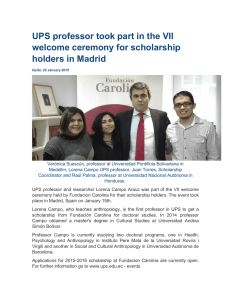 UPS professor took part in the VII welcome ceremony for scholarship