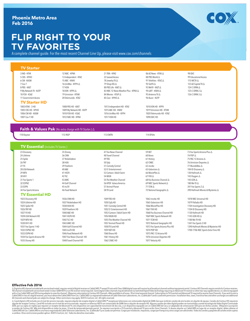 FLIP RIGHT TO YOUR TV FAVORITES