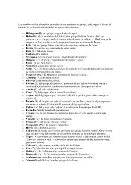 tabla periodica cgb elementos y sus nombres en latin ingles y griego - Tabla Periodica De Los Elementos Quimicos Con Nombres En Latin