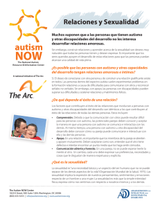Relaciones y Sexualidad - The Arc`s Autism Now Center