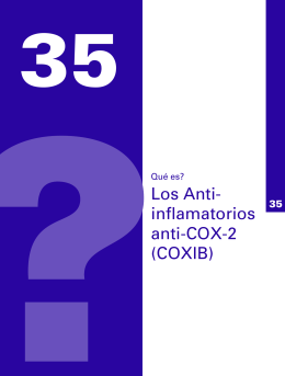 Los Anti- inflamatorios anti-COX