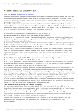 Conducta antisindical del empresario