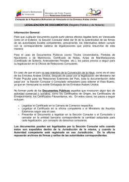 LEGALIZACIÓN DE DOCUMENTOS