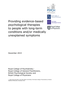 Providing evidence-based psychological therapies to people with