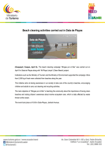 Beach cleaning activities carried out in Data de Playas