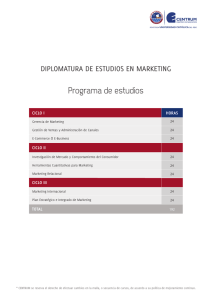 DIPLOMATURA DE ESTUDIOS EN MARKETING