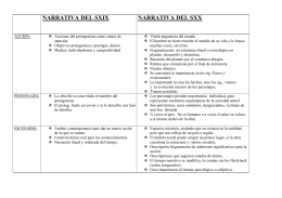 Narrativa del s. XIX vs. Narrativa del s. XX.
