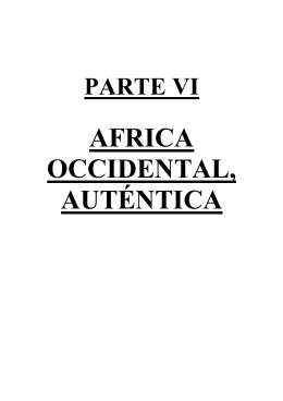 AFRICA OCCIDENTAL, AUTÉNTICA