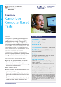 Cambridge Computer Based Tests