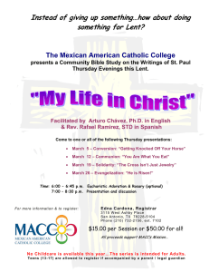 Instead of giving up something… - Mexican American Catholic College