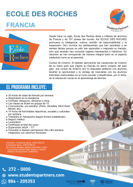 ecole des roches - Students Partners